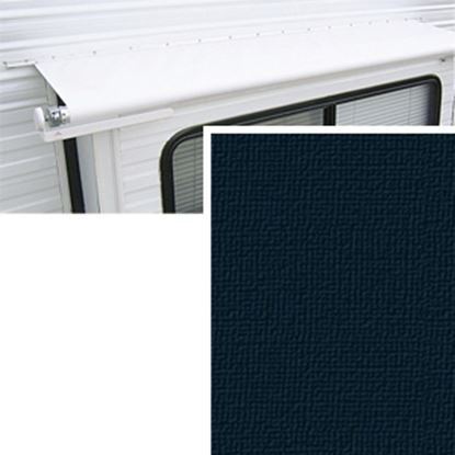 """Picture of Carefree  11' 1"""" w/ 42"""" Ext Solid Black Denim Vinyl Slide Out Awning Fabric DG1336242 00-1444"""