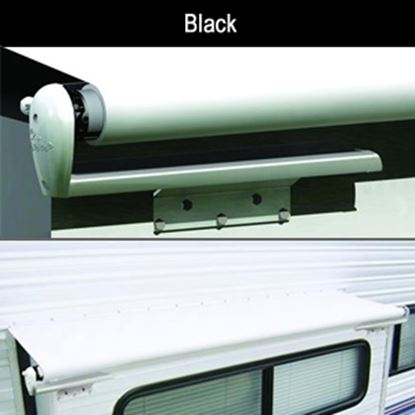 """Picture of Carefree Slideout Cover (TM) Solid Black Vinyl 122-129"""" Roof X 42""""Ext Power Slide-Out Awning LH1296242 00-7950"""