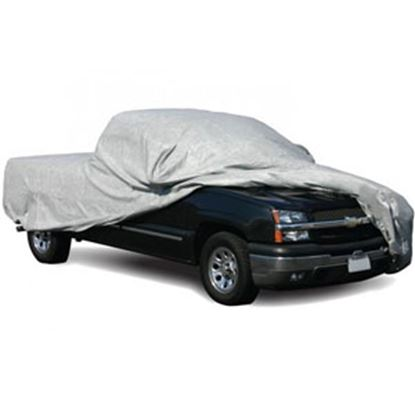 """Picture of ADCO SFS AquaShed (R) Gray 3 Layer Fabric Medium Cover For Short Bed 252""""L Pick-Up Truck 12284 01-0006"""