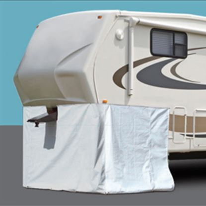 """Picture of ADCO  296""""L X 64""""H Polar White Vinyl Snap Mount Fifth Wheel Skirt 3503 01-1027"""