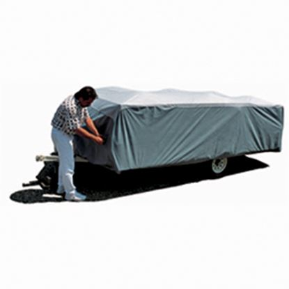 "Picture of ADCO SFS AquaShed (R) Gray Polypropylene Cover For 12' 1""-14' Folding/Pop Up Trailers 12293 01-1140"