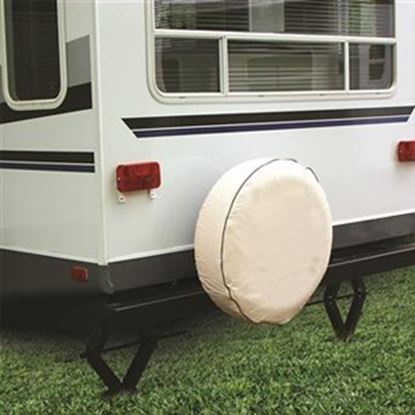 """Picture of Camco  Colonial White 24"""" Spare Tire Cover 45358 01-1390"""