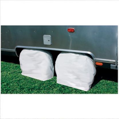 "Picture of Camco  1-Pair Arctic White 33-35"" Tire Covers 45324 01-1396"