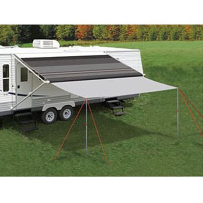 """Picture of Carefree Awning Extend'R 12' L x 98"""" Ext Gray Polyester Awning Extension Panel UU1208 01-4653"""