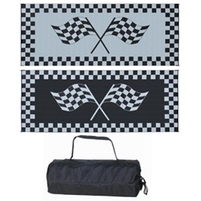 Picture of Ming's Mark  8' x 20' Black/White Reversible Camping Mat RF-8201 01-4723