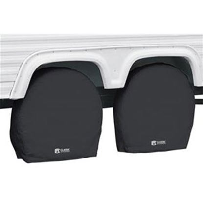 """Picture of Classic Accessories  1-Pack Black 24"""" to 26-1/2"""" Diam Single Tire Cover 80-236-140402-00 01-7308"""