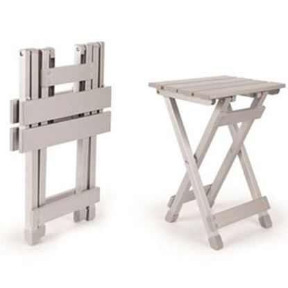 """Picture of Camco  12""""L x 10""""W x 16-1/2""""H Aluminum Folding Table 51890 03-0654"""