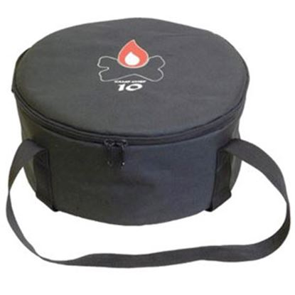 """Picture of Camp Chef  12-1/2""""D x 6""""H Black Polyester Campfire Cookware Storage Bag CBDO10 03-0809"""
