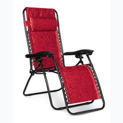 Picture of Camco  Red Swirl Large Zero Gravity Recliner Chair 51833 03-8552