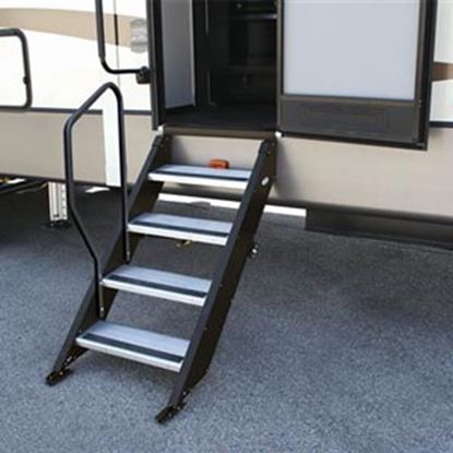 Picture of MOR/ryde StepAbove (TM) Black Entry Step Hand Rail STP214-006H 04-0249