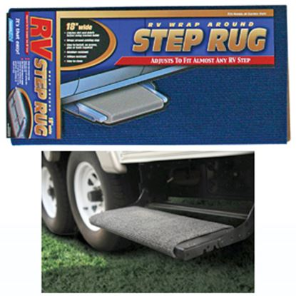"""Picture of Camco  18"""" Wide Blue Wrap-Around Step Rug 42924 04-0282"""