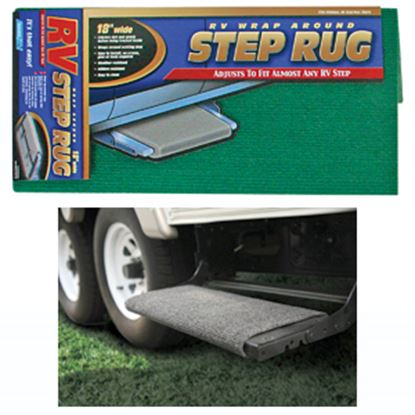 """Picture of Camco  18"""" Wide Green Wrap-Around Step Rug 42923 04-0283"""