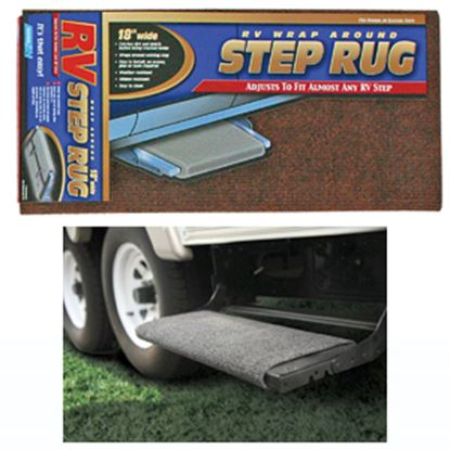 """Picture of Camco  18"""" Wide Brown Wrap-Around Step Rug 42921 04-0284"""