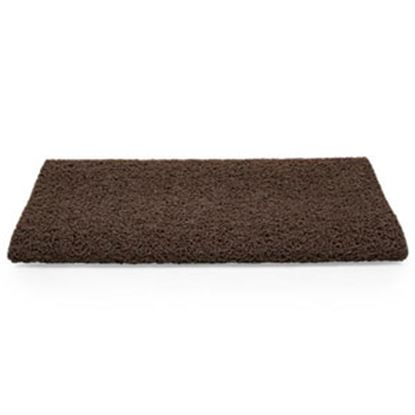 "Picture of Camco  23""W Brown Looped PVC w/ TPE Backing Entry Step Rug 42967 04-0562"