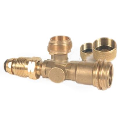 Picture of Camco  Brass LP Tee w/ 3 Ports 59093 06-0483