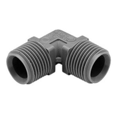 "Picture of Lasalle Bristol QEST 3/4"" Male Thread x 1/2"" Male Thread Gray Fresh Water 90 Deg Elbow 64QE43T 10-0971"