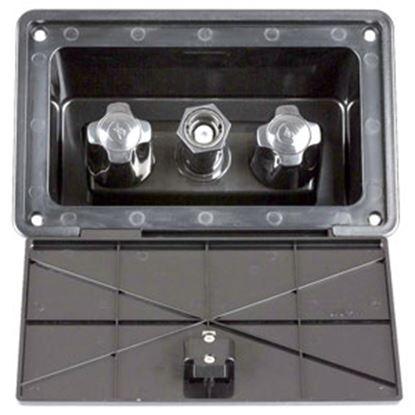 Picture of Dura Faucet  Black Faucet Type w/ Quick Connect Valve Exterior Spray Port DF-SA185-BK 10-1223