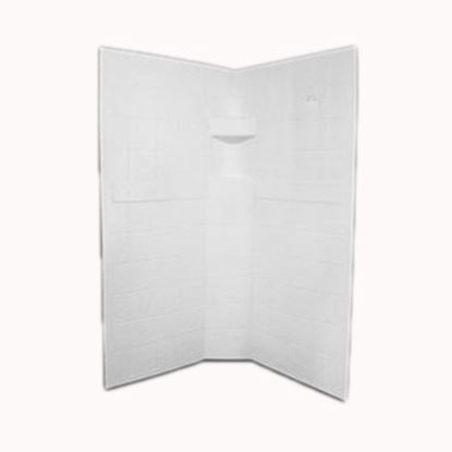 "Picture of Specialty Recreation  3-Piece White 34"" x 34"" x 67"" Neo Angle Shower Surround NSW3434W 10-1888"