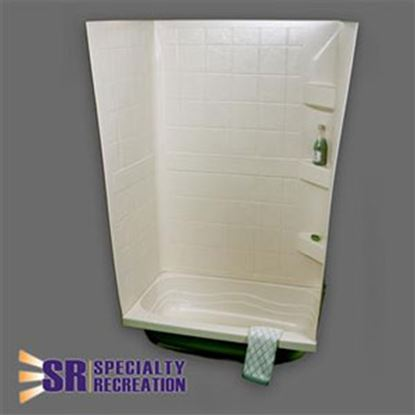 "Picture of Specialty Recreation  Parchment 24""W x 36""L x 59""H Shower Surround TW2436P 10-1924"