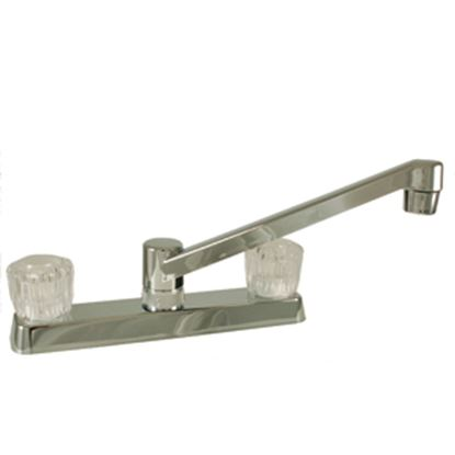"""Picture of Empire Brass  Chrome w/Clear Knobs 8"""" Kitchen Faucet w/D-Spout U-YJW800F 10-2350"""