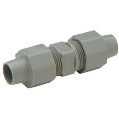 "Picture of QEST Qicktite (R) 1/2"" ID Tube Compression Gray Acetal Fresh Water Straight Fitting  10-4031"