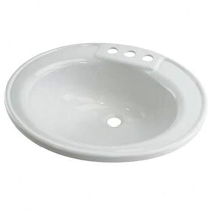 """Picture of Better Bath  19-3/4"""" X 16-5/8"""" Oval White ABS Plastic Lavatory Sink 209635 10-5701"""