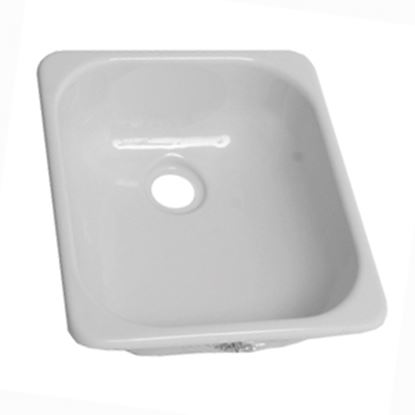 """Picture of Better Bath  12-3/4"""" X 15"""" Square White ABS Plastic Outdoor Kitchen Sink 209630 10-5708"""