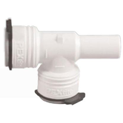 "Picture of Flojet  1/2"" PEX Run x 1/2"" Branch Slip-Stem Manifold White Plastic Fresh Water Tee 1822008C 10-8219"