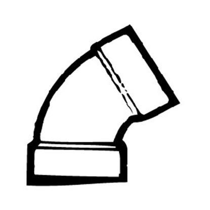"Picture of Lasalle Bristol  1-1/2"" Slip ABS Plastic 60Deg Elbow Waste Valve Fitting 632601 11-1150"