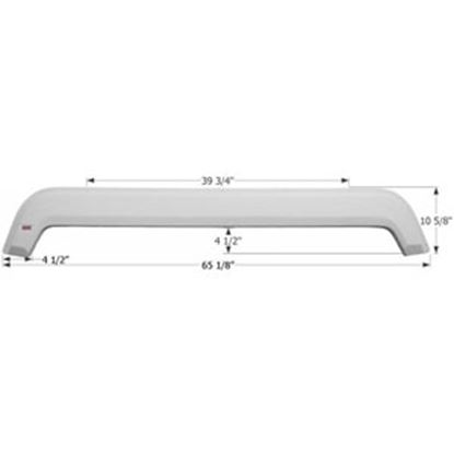 Picture of Icon  Polar White Tandem Axle Fender Skirt For KZ Brands 01802 15-0618