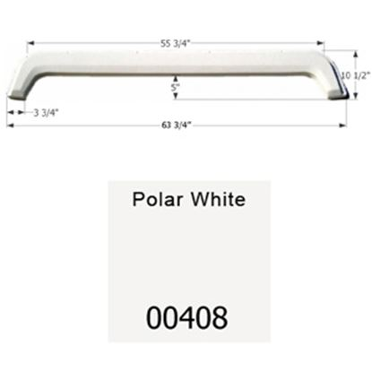 "Picture of Icon  Polar White 63-3/4""L x 10-1/2""H Tandem Axle Universal Fender Skirt 00408 15-1610"