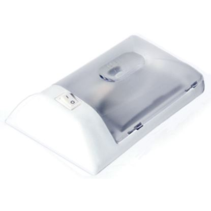 Picture of Camco  White w/ Clear Lens Single Dome Light 41330 18-0772