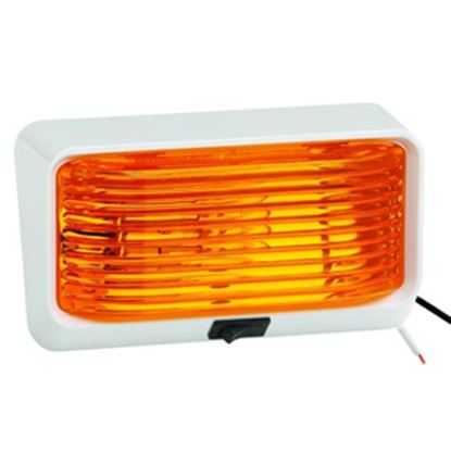 Picture of Bargman 78 Series Amber White Base Porch Light w/ Switch 34-78-518 18-1008
