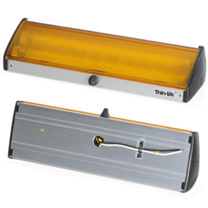 Picture of Thin-Lite 160 Series Amber Lens Fluorescent Porch Light w/Switch DIST-162A 18-1020
