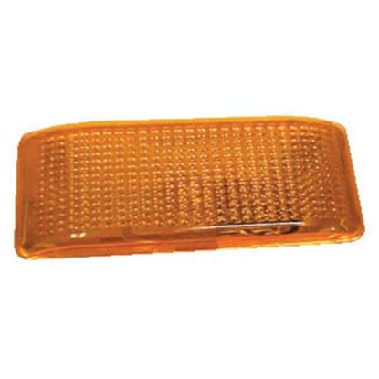 Picture of Optronics  10-Pack Amber Flat Rectangular Lens For RVPL1/3 Series Porch Light APL1ABP 18-1306