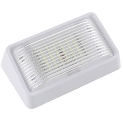 Picture of Green LongLife  Clear w/Amber Lens Rectangular LED Porch Light 9090119 18-1395