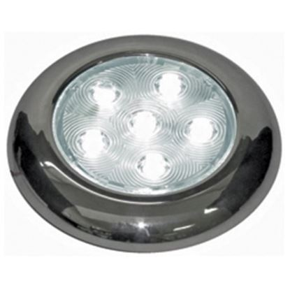 Picture of Peterson Mfg. Great White Polished SS Housing Surface Mount White LED Dome Interior Light V361 18-2245