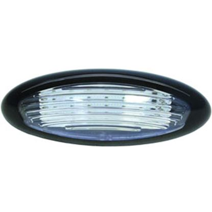 Picture of ITC  Black w/Clear Lens Oval LED Porch Light 69768-BK-D 18-7653