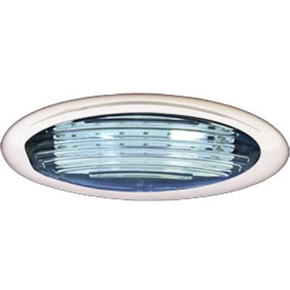 Picture of ITC  Black w/Clear Lens Oval LED Porch Light 69768-WH-D 18-7654