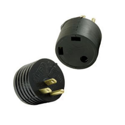 Picture of JR Products  15M/30F Offset Power Cord Adapter M-3024-A 19-0376
