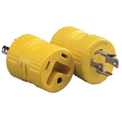 Picture of Marinco  20M/30F Power Cord Adapter 128A 19-0501