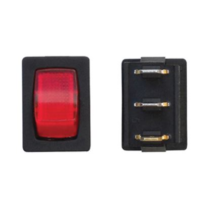 Picture of Diamond Group  Red/ Black 125V/ 16A SPST Lighted Rocker Switch For Water Pumps DG623VP 19-2079