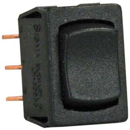 Picture of JR Products  Black 125V/ 13A DPDT Rocker Switch 13345 19-2125