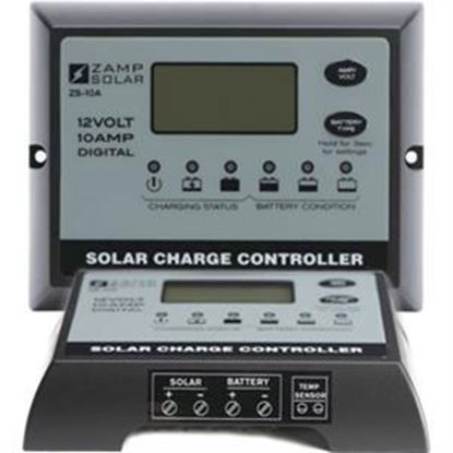 Picture of Zamp Solar  Digital 150W 10A Battery Charger Controller For Gel/AGM/Conventional Lead-Acid/Calcium Batteries  19-2828