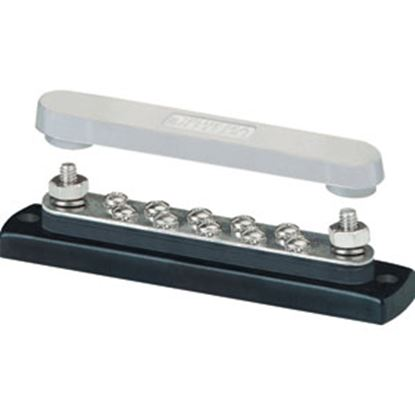 Picture of Blue Sea  130A AC/150A DC Polycarbonate Busbar w/ 10 Terminal Points 2301 19-3097