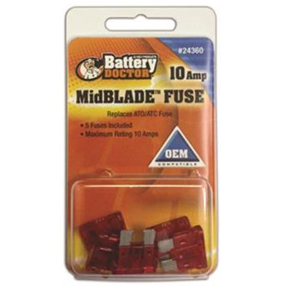 Picture of Battery Doctor  20A ATO/ ATC Yellow Blade Fuse 24370 19-3564