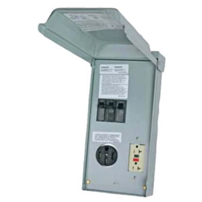 Picture of Parallax  240V/ 50A Single Round Receptacle w/20A GFI PG-U055C 19-4287