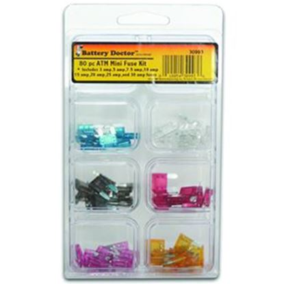 Picture of Battery Doctor  80-Pack ATM Mini Fuse Assortment 30993 19-7589