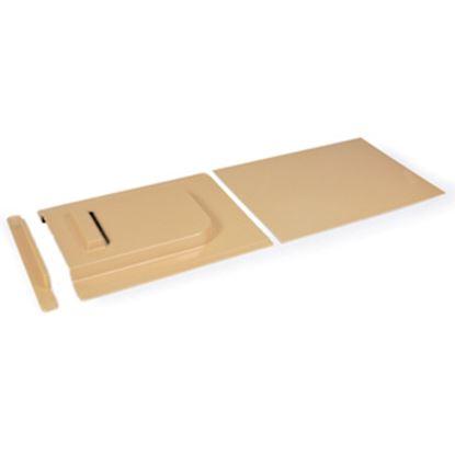 """Picture of Camco  9""""H X 24""""W Beige Molded Plastic Screen Door Slide W/Stop 45602 20-0106"""