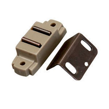 """Picture of AP Products  Tan Surface Mount Magnetic Catch, w/ """"L"""" Strike 013-014-1 20-0500"""